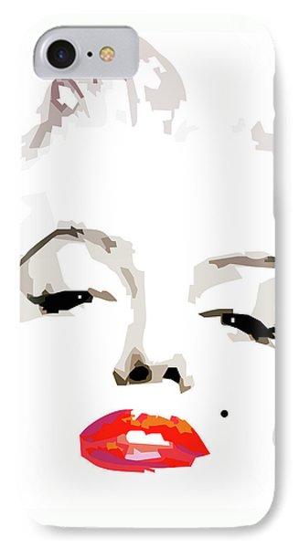 Marilyn Monroe Minimalist IPhone Case by Quim Abella