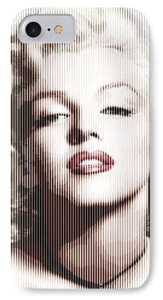 Marilyn Monroe - Colored Verticals IPhone Case