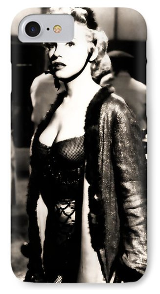 IPhone Case featuring the photograph Marilyn Monroe Dressed To Trill In Bus Stop by R Muirhead Art