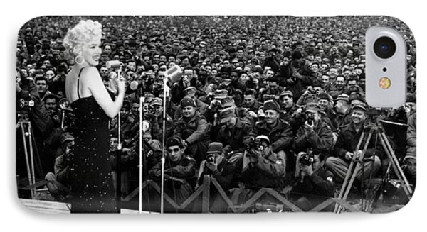 Marilyn Monroe Entertaining The Troops In Korea IPhone Case by American School