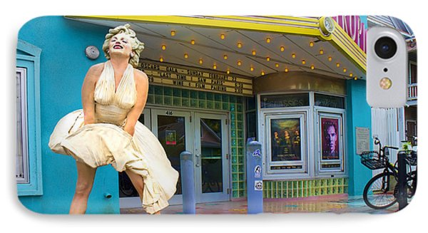 Marilyn Monroe In Front Of Tropic Theatre In Key West IPhone Case by David Smith