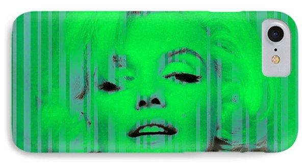 Marilyn Monroe In Green IPhone Case by Kim Gauge