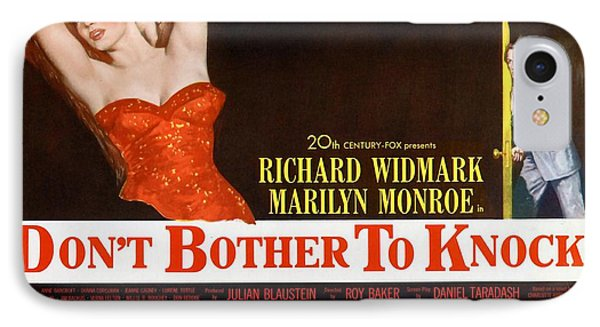 IPhone Case featuring the photograph Marilyn Monroe Movie Poster Don't Bother To Knock by R Muirhead Art
