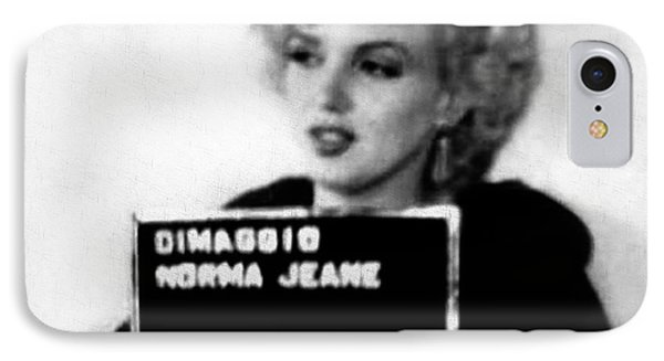 Marilyn Monroe Mugshot In Black And White IPhone Case by Bill Cannon