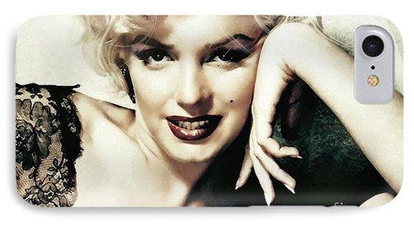 Marilyn Monroe, Norma Jeane Mortensen IPhone Case by Thomas Pollart