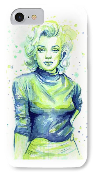 Marilyn Monroe IPhone Case by Olga Shvartsur