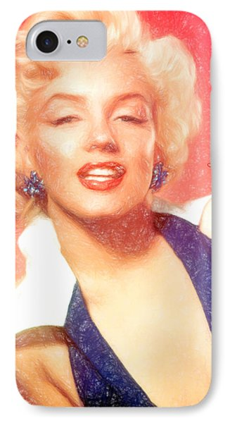 Marilyn Monroe  - Pencil Style -  - Da IPhone Case