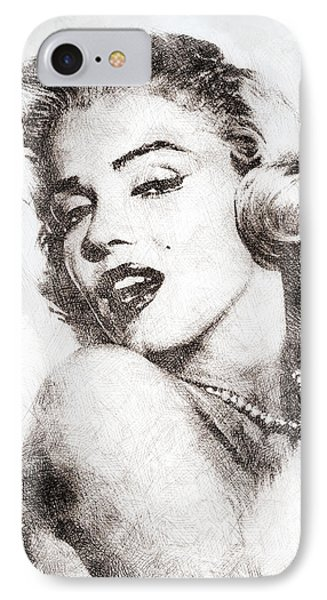 Marilyn Monroe Portrait 01 IPhone Case by Pablo Romero