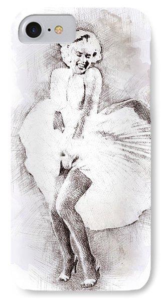 Marilyn Monroe Portrait 03 IPhone Case by Pablo Romero