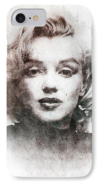 Marilyn Monroe Portrait 04 IPhone Case by Pablo Romero