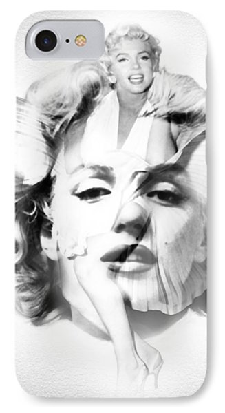 Marilyn Monroe Portrait In Black And White IPhone Case