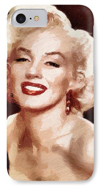Marilyn Monroe Semi Abstract IPhone Case by Georgiana Romanovna