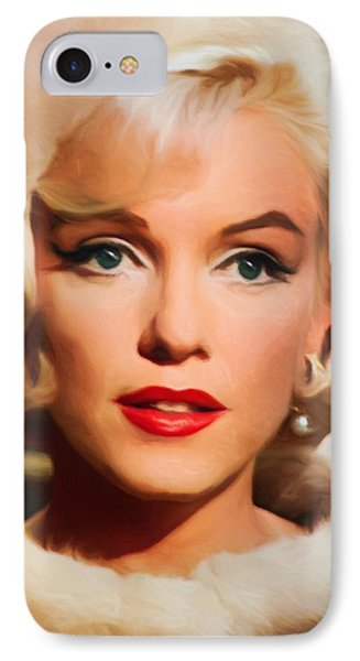 Marilyn Monroe Phone Case by Vincent Monozlay