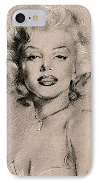 Marilyn Monroe IPhone Case by Ylli Haruni
