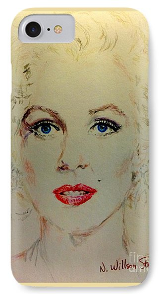 Marilyn In White IPhone Case by N Willson-Strader