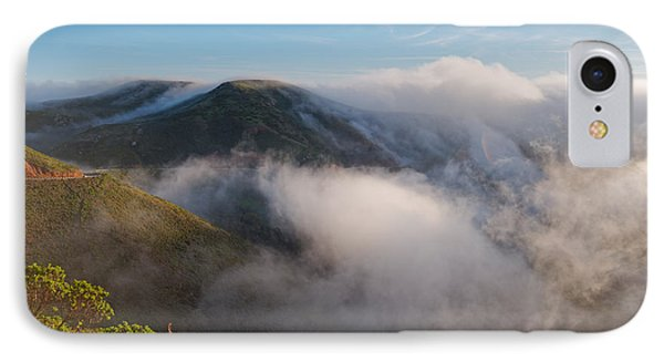 Marin Headlands Fog Rising - Sausalito Marin County California IPhone Case
