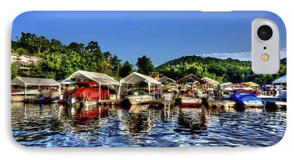 Marina At Cheat Lake Clear Day IPhone Case by Dan Friend