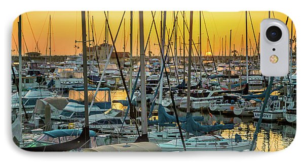 Marina Sunset IPhone Case by April Reppucci