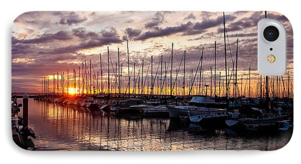 Marina Sunset Phone Case by Mike Reid
