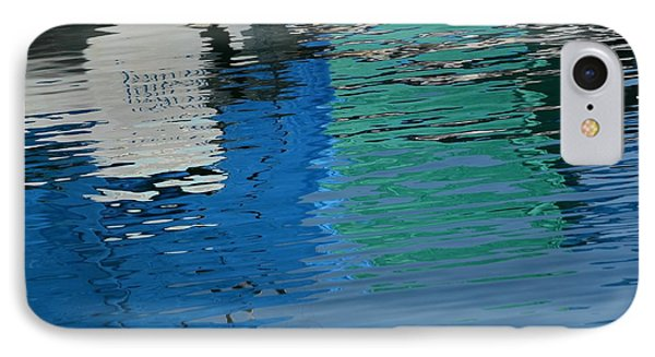 Marina Water Abstract 1 IPhone Case by Fraida Gutovich