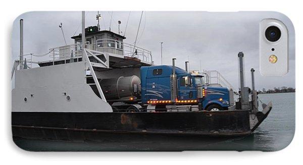 Marine City Mich Car Truck Ferry IPhone Case by Randy J Heath