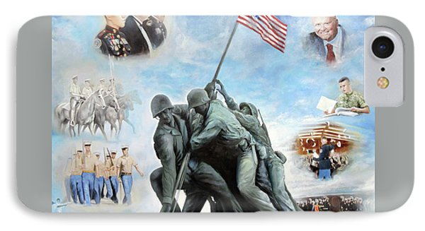 Marine Corps Art Academy Commemoration Oil Painting By Todd Krasovetz Phone Case by Todd Krasovetz