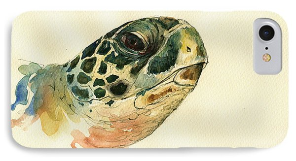 Marine Turtle IPhone Case by Juan  Bosco