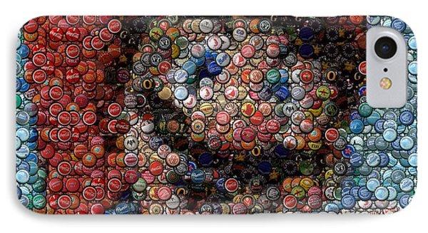 Mario Bottle Cap Mosaic Phone Case by Paul Van Scott
