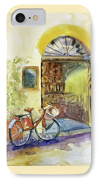 IPhone Case featuring the painting Market Day In Lucca by Bonnie Rinier