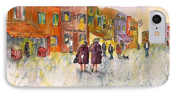 IPhone Case featuring the painting Market Place In Borano by Sharon Mick