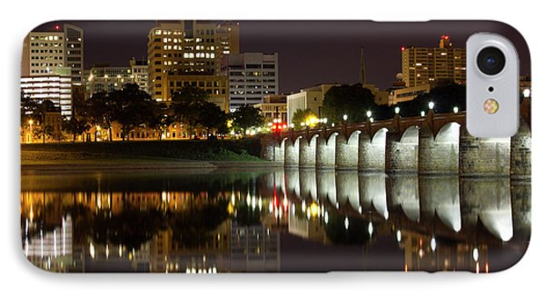 Market Street Bridge Reflections Phone Case by Shelley Neff