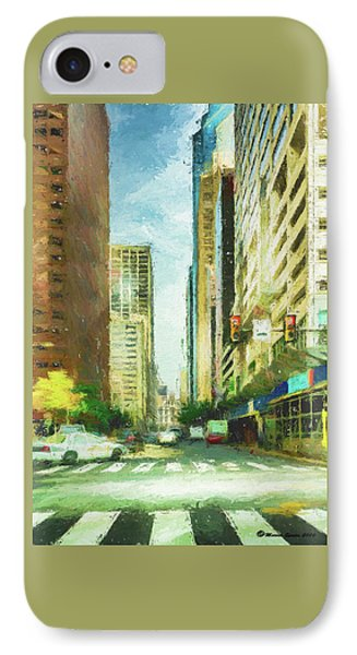 Market Street IPhone Case by Marvin Spates