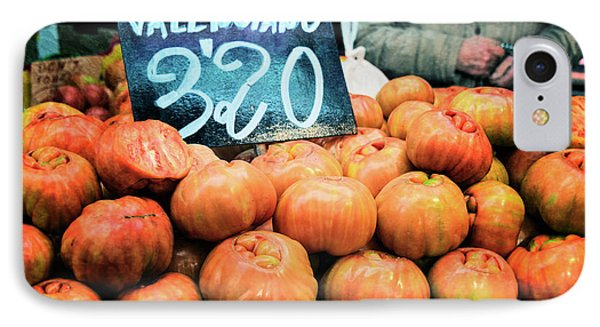 Market Tomatoes IPhone Case by Joan Carroll