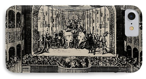 Markgrafentheater In Erlangen, 1721  IPhone Case by Johann Baptista Homann