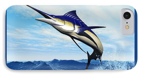 Marlin Jump Phone Case by Corey Ford
