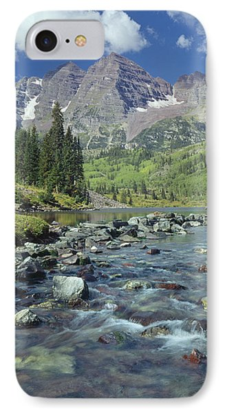 210404-maroon Bells And Creek  IPhone Case