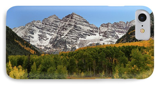 IPhone Case featuring the photograph Maroon Bells by Dana Sohr