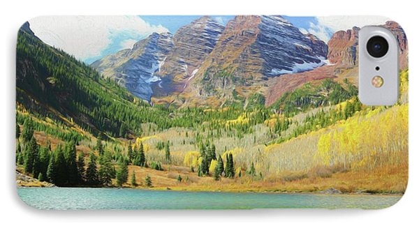 IPhone Case featuring the photograph The Maroon Bells Reimagined 2 by Eric Glaser