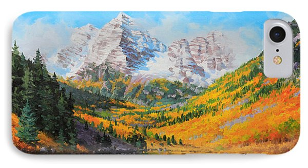 Maroon Bells IPhone Case by Gary Kim