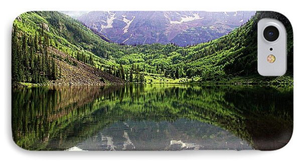 IPhone Case featuring the photograph Maroon Bells  by Jerry Battle