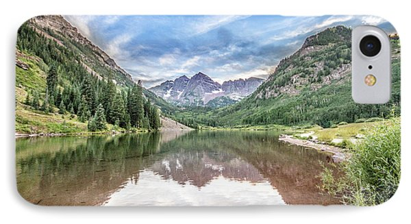IPhone Case featuring the photograph Maroon Bells Near Aspen, Colorado by Peter Ciro