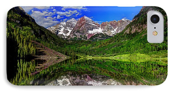 Maroon Bells Reflections IPhone Case by Jean Hutchison