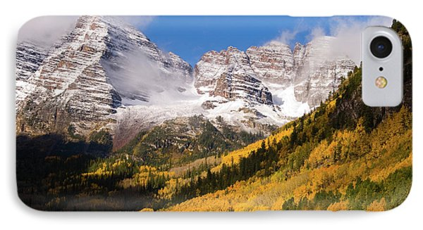 IPhone Case featuring the photograph Maroon Bells by Steve Stuller
