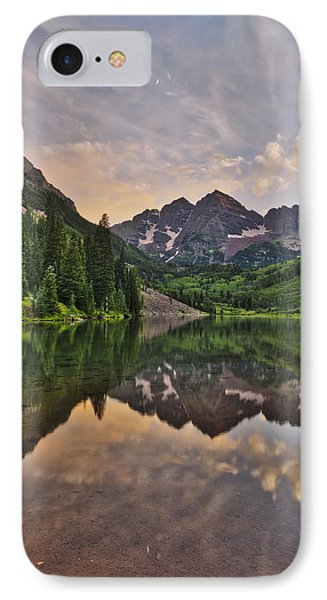 IPhone Case featuring the photograph Maroon Bells Sunset - Aspen - Colorado by Photography  By Sai