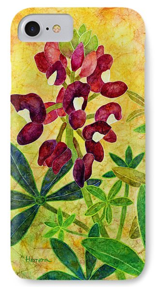 Maroon Bluebonnet IPhone Case by Hailey E Herrera