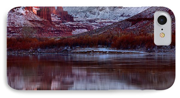 IPhone Case featuring the photograph Maroon Fisher Towers by Adam Jewell