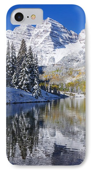 Maroon Lake And Bells 2 IPhone Case by Ron Dahlquist - Printscapes