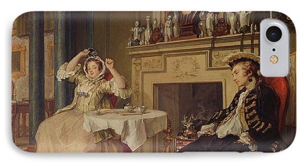 Marriage A La Mode II The Tete A Tete IPhone Case by William Hogarth