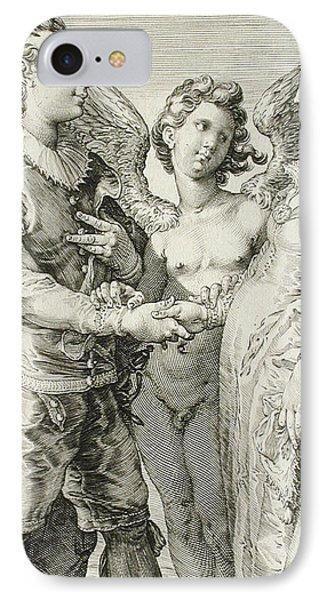 Marriage For Pleasure IPhone Case by Jan Saenredam