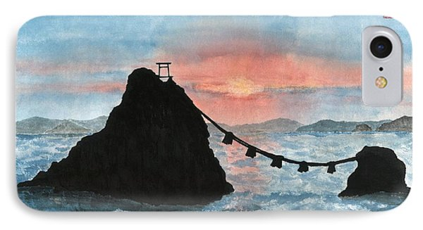 Married Couple Rocks At Sunrise IPhone Case